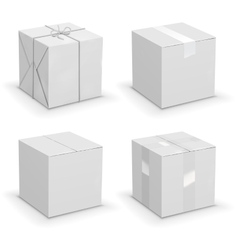 Boxes set vector