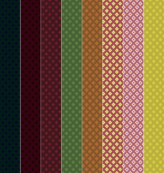 8 seamless patterns rhombuses eps10 vector