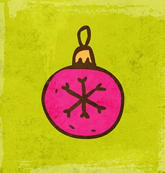 Christmas bauble cartoon vector