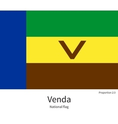 National flag of venda with correct proportions vector