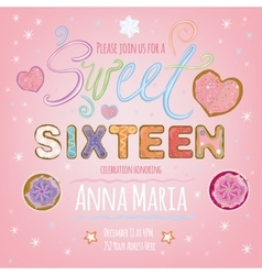 Sweet Sixteen vector image