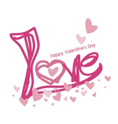 Love design for valentines day vector
