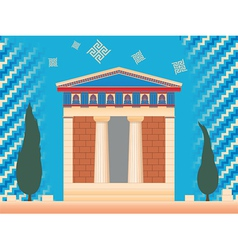 Greek ancient treasury vector
