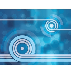 blue tech abstract background two vector image