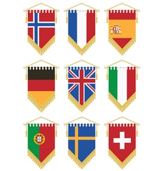 flag pennants vector image