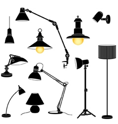 lamp set vector image