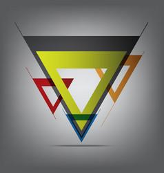 Abstract decorative arrow vector