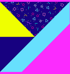 abstract geometric background neon memphis style vector image vector image
