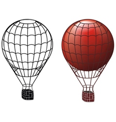 ancient air balloons vector image vector image