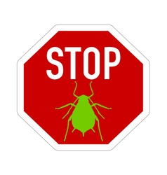 Aphid stop sign vector