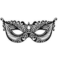 Beautiful mask of lace vector image