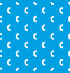C joint pipe pattern seamless blue vector