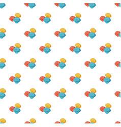 Colorful seashells pattern vector