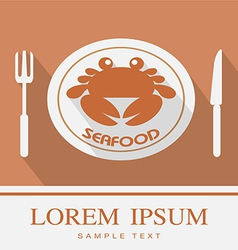 Crab fork and knife icon 3 vector