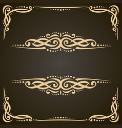Decorative golden frames vector