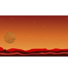 Desert and planet space landscape vector