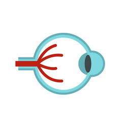 Eye anatomy icon flat style vector