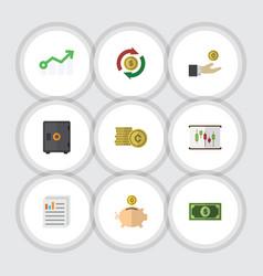 Flat icon finance set of interchange hand with vector