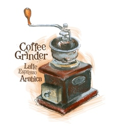 Fresh coffee logo design template grinder vector