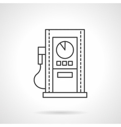 Gas station line flat line design icon vector image