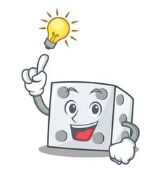Have an idea dice character cartoon style vector