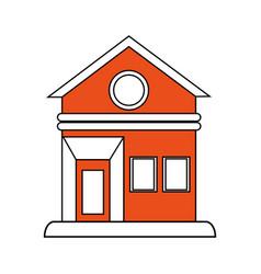 House facade flat vector