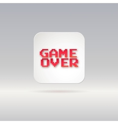 Lettering game over icon vector image vector image