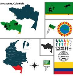 Map of amazonas vector