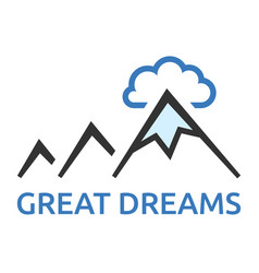 mountains and cloud vector image vector image