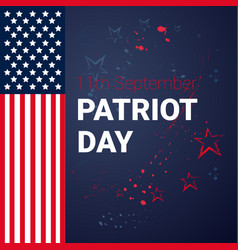 national usa patriot day united states flag banner vector image