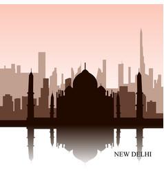 new delhi cityscape vector image