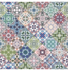 Patchwork abstract patterns vector