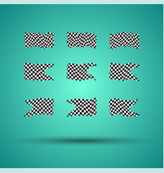 Racing background set collection of 9 checkered vector