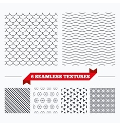 Roof tile geometric seamless pattern vector image