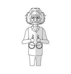 Scientist man cartoon icon vector