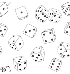 Seamless texture with white dice cubes vector image