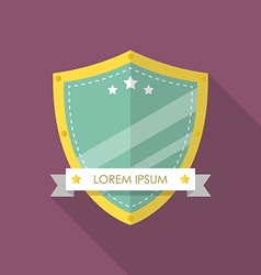 Shield flat style badge icon vector