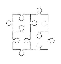Sketch puzzle piece jigsaw vector