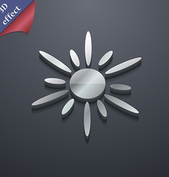 Sun icon symbol 3D style Trendy modern design with vector image