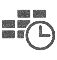 Time table grainy texture icon vector