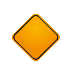 traffic sign danger warning blank vector image vector image
