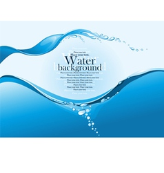 Water splash vector image vector image