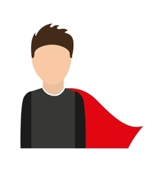 Hero character comic isolated icon vector