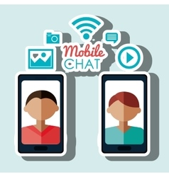 Avatar chat mobile smartphone vector