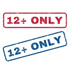 12 plus only rubber stamps vector