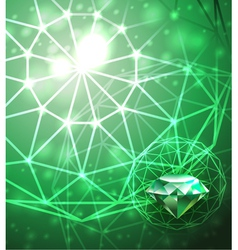 Background with emerald vector