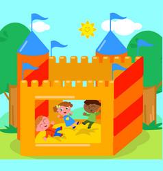 bouncy castle vector image