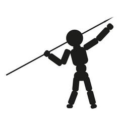 Man thrower spear sign black vector