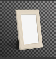 Realistic woden picture or photo frame mock up vector