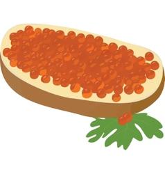 caviare sandwich vector image